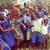 Afia Schwarzennegar donates boxes of chalk to Kukurantumi Presby School